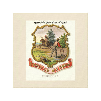 Minnesota Coat of Arms Canvas Print