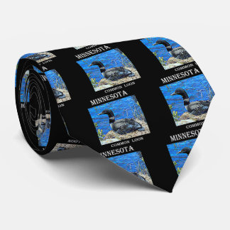 Minnesota Common Loon Tie
