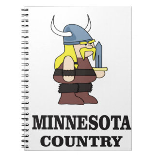 Minnesota country spiral notebook