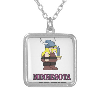 Minnesota Crew Silver Plated Necklace
