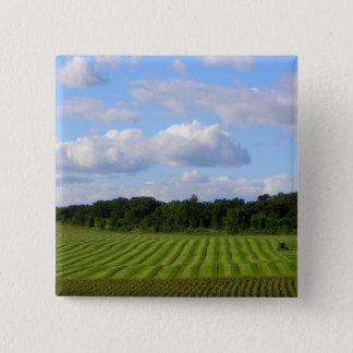 Minnesota farm beautiful summer day photography 15 cm square badge