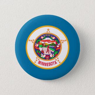 Minnesota Flag 6 Cm Round Badge