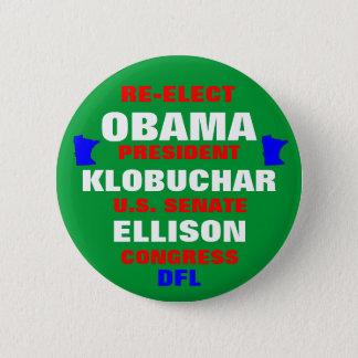 Minnesota for Obama Klobuchar Ellison 6 Cm Round Badge