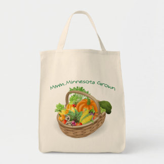 Minnesota Grown Grocery Tote Canvas Bags