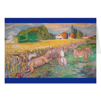 Minnesota Harvest Blank Greeting Card