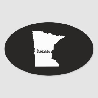 Minnesota Home Oval Sticker