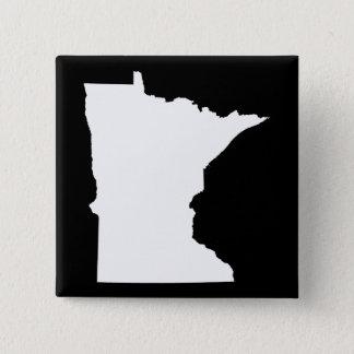 Minnesota in White and Black 15 Cm Square Badge