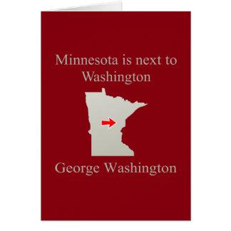 Minnesota is next to Washington Card
