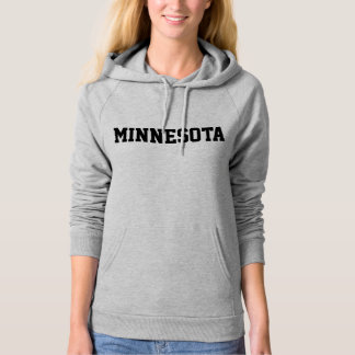Minnesota Jersey Font Black.png Hoodie
