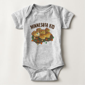 Minnesota Kid Hot Dish Tater Tot Hotdish Casserole Baby Bodysuit