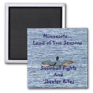 Minnesota Land of Two Seasons Magnet