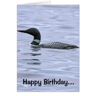 Minnesota Loon Birthday Card