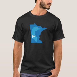 Minnesota Loon Blue on Blue T-Shirt
