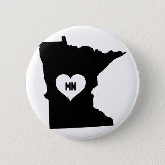 Minnesota Love 6 Cm Round Badge