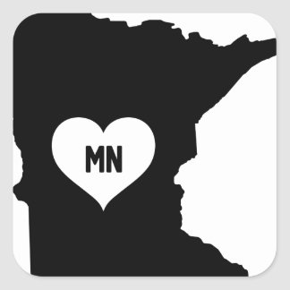 Minnesota Love Square Sticker