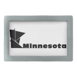 Minnesota Map Belt Buckles