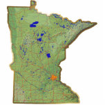 Minnesota Map Magnet Cut Out