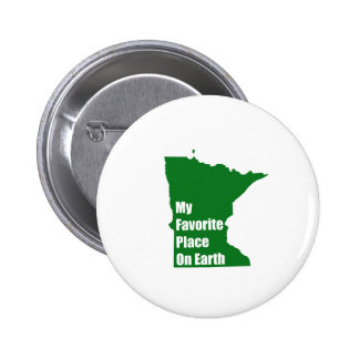 Minnesota My Favorite Place On Earth Button