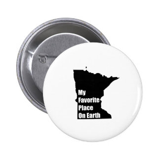 Minnesota My Favorite Place On Earth Pinback Buttons