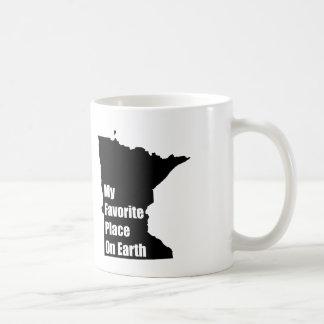 Minnesota My Favorite Place On Earth Basic White Mug