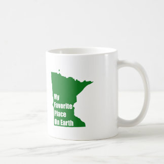 Minnesota My Favorite Place On Earth Basic White Mug