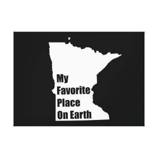 Minnesota My Favorite Place On Earth Gallery Wrapped Canvas