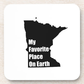 Minnesota My Favorite Place On Earth Drink Coasters