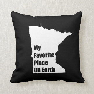 Minnesota My Favorite Place On Earth Throw Pillow