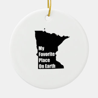 Minnesota My Favorite Place On Earth Christmas Ornaments