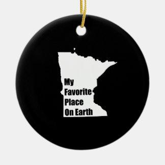 Minnesota My Favorite Place On Earth Christmas Tree Ornaments