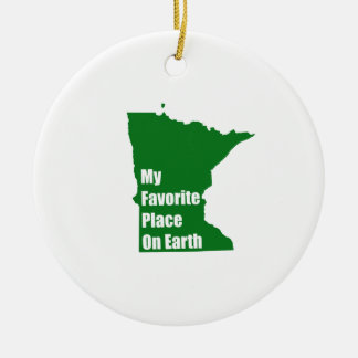Minnesota My Favorite Place On Earth Christmas Tree Ornament