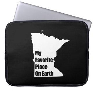 Minnesota My Favorite Place On Earth Computer Sleeve