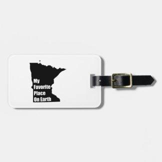 Minnesota My Favorite Place On Earth Bag Tags
