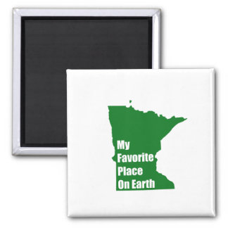 Minnesota My Favorite Place On Earth Refrigerator Magnets