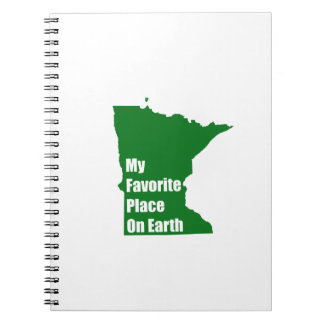 Minnesota My Favorite Place On Earth Notebook