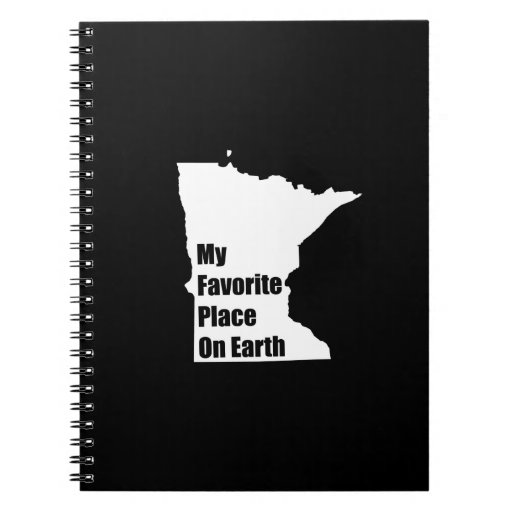 Minnesota My Favorite Place On Earth Spiral Notebook