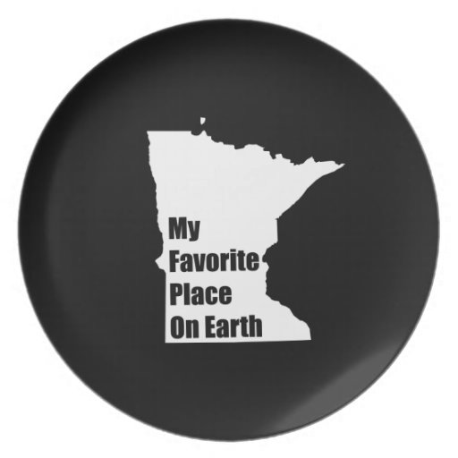 Minnesota My Favorite Place On Earth Party Plates
