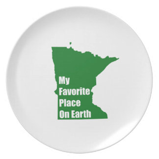Minnesota My Favorite Place On Earth Plate