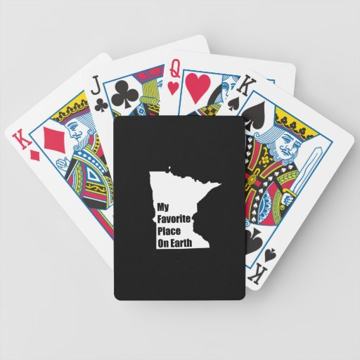 Minnesota My Favorite Place On Earth Poker Cards
