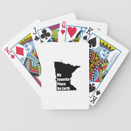 Minnesota My Favorite Place On Earth Bicycle Card Decks