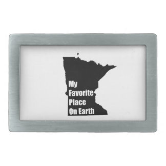 Minnesota My Favorite Place On Earth Rectangular Belt Buckle