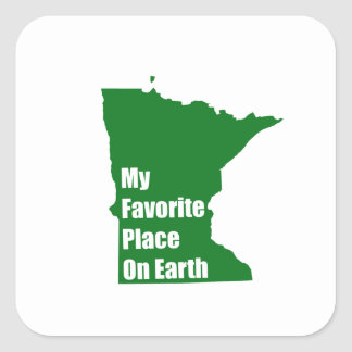 Minnesota My Favorite Place On Earth Stickers