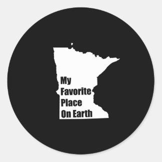 Minnesota My Favorite Place On Earth Round Sticker