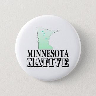 Minnesota Native 6 Cm Round Badge