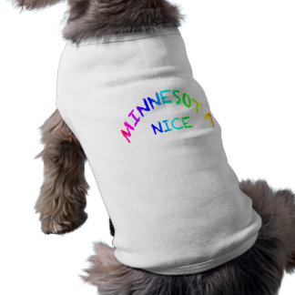 Minnesota Nice Doggie Ribbed Tank Top Sleeveless Dog Shirt
