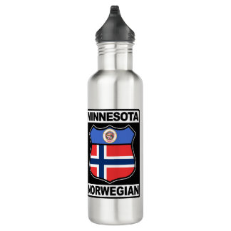 Minnesota Norwegian American Water Bottle