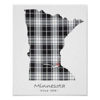 Minnesota Plaid Poster