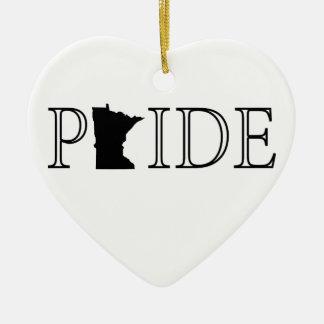 Minnesota Pride Ceramic Ornament