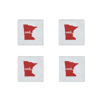 MINNESOTA RED STATE STONE MAGNET