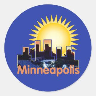Minnesota Round Sticker
